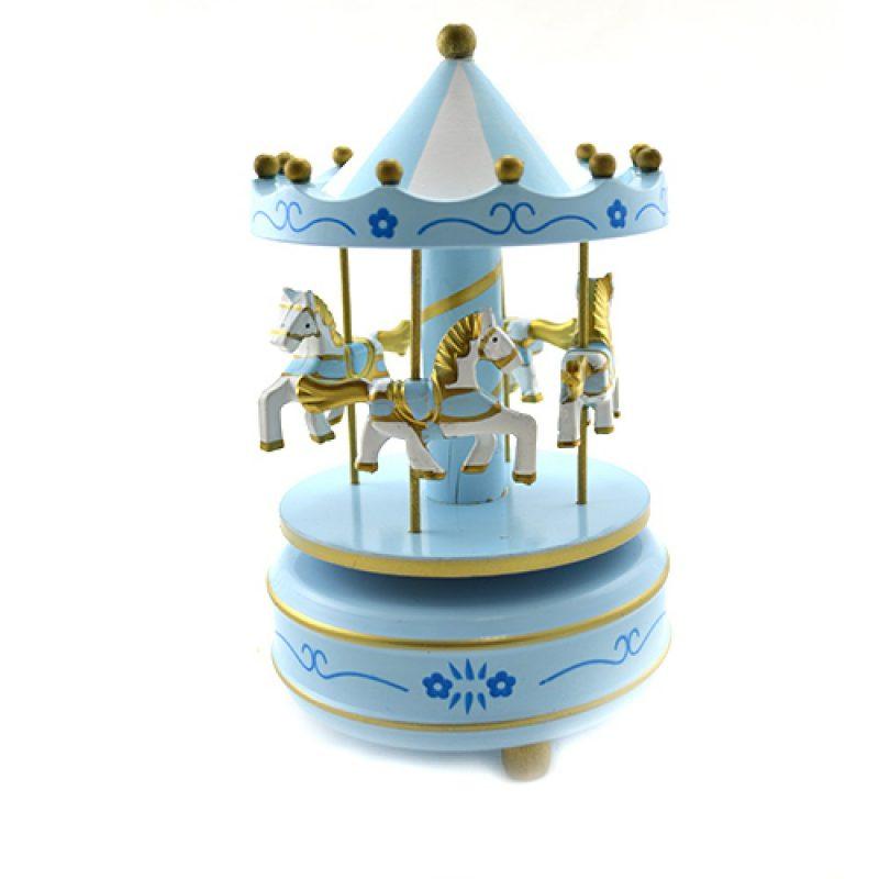 carusel muzical albastru pentru baietel