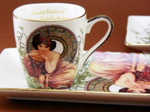 Cesti espresso Alfons Mucha