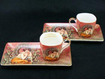 Cesti de espresso 50ml Alphonse Mucha