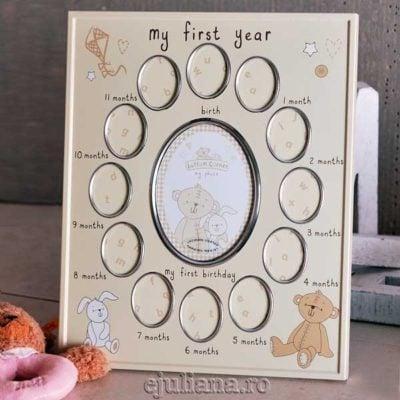 Rama primul an bebelusi Button Corner by Juliana