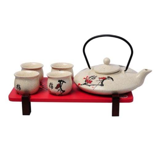 Ceainic si patru cesti de portelan chinezesc