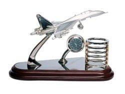 avion ceas de birou cu suport pentru pixuri