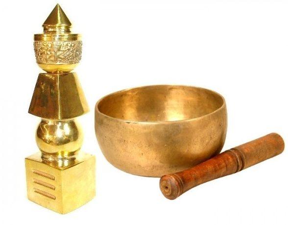 bol tibetan cantator si pagoda celor cinci elemente