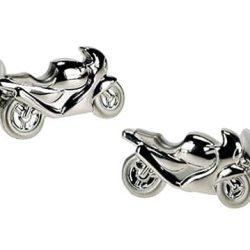 Butoni de camasa motociclete argintii
