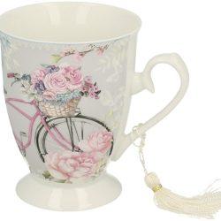 Cana de cafea cu bicicleta