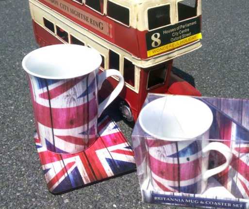 Set cana portelan Union Jack c