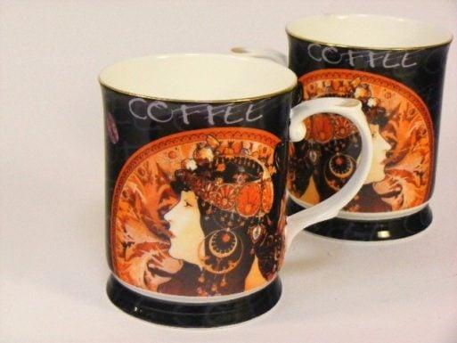 Cani de portelan cafea Alphonse Mucha