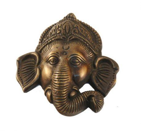 Ganesh decor de perete din bronz