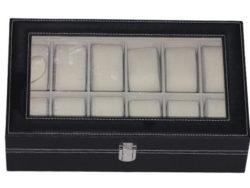 Cutie pentru ceasuri piele neagra