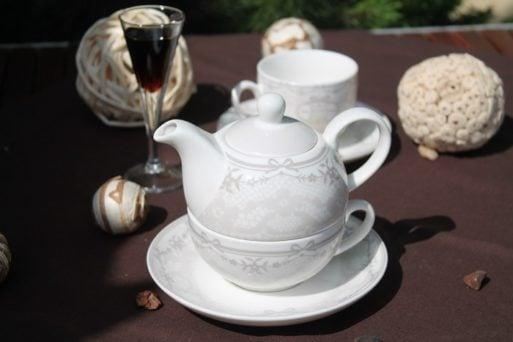 Set ceainic de porteln fin