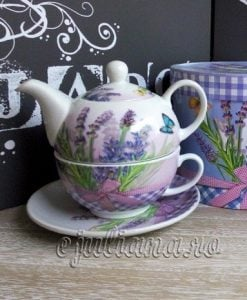 Set ceainic tea for one lavanda