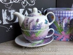 Set ceainic tea for one lavanda