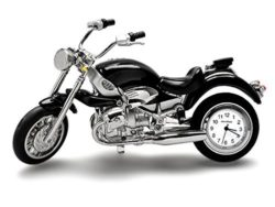 Ceas de birou motocicleta miniatura Harley Davidson
