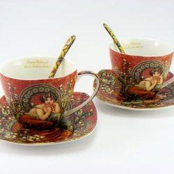 Set cesti de cafea 200ml Alphonse Mucha