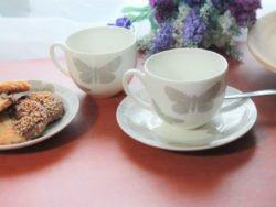 cesti de cafea fluturi vintage