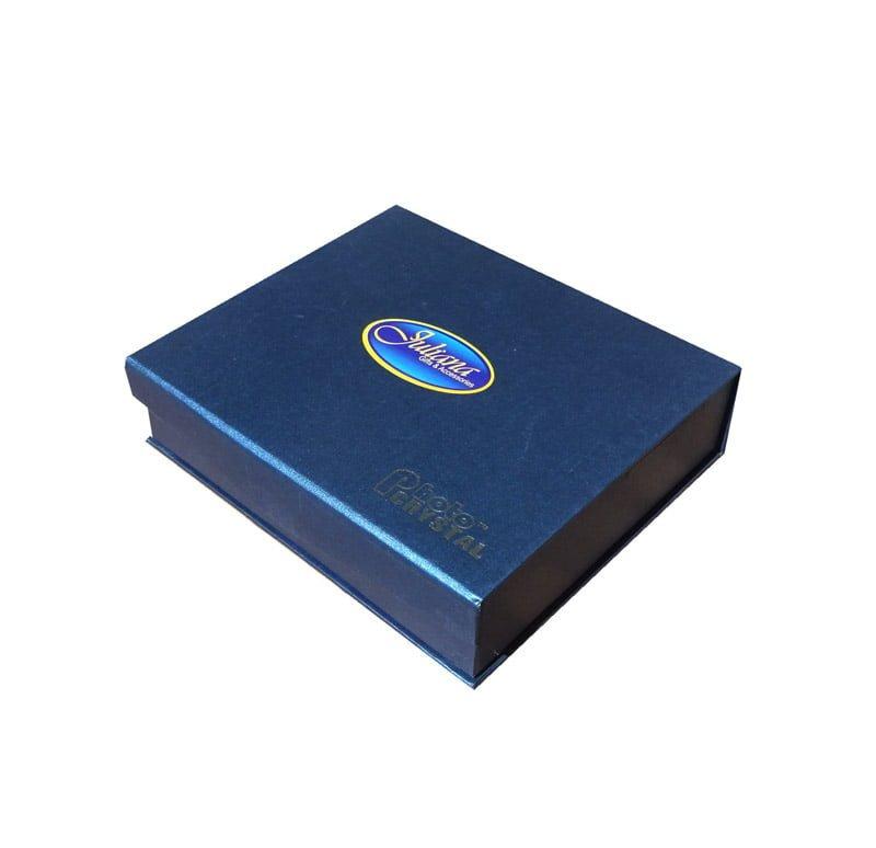 Cristal de trofeu cu mesaj de succes cutie de cadou