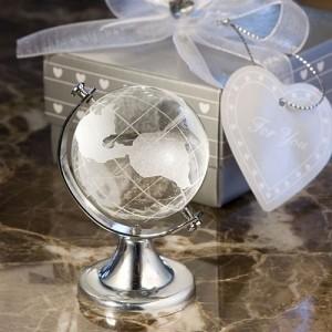Glob de cristal marturie de botez sau nunta