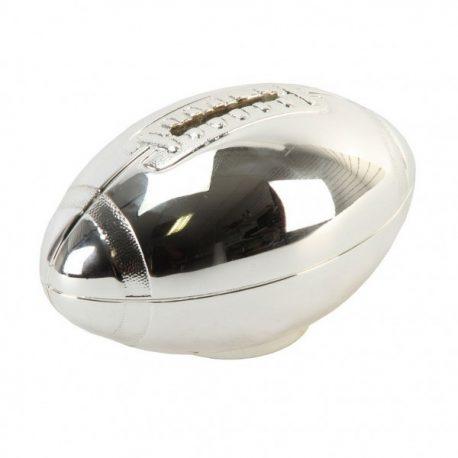minge rugby pusuclita argintata