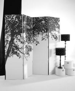 Paravane decorative (fundal alb cu copac) - eJuliana.ro