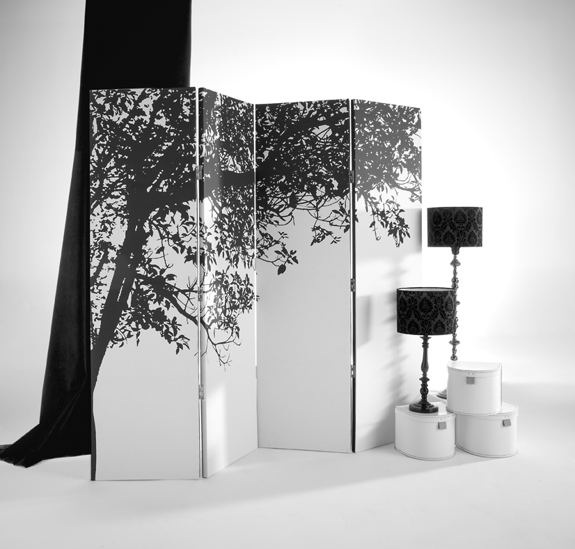 Paravan de camera alb
