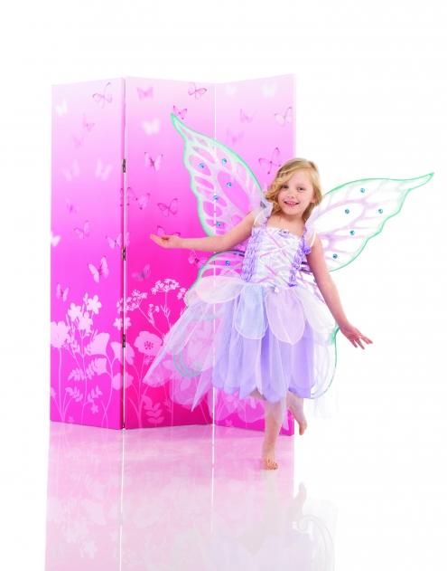 Paravan decorativ roz cu fluturi