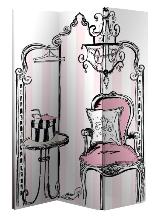 Paravan decorativ de camera Budoir