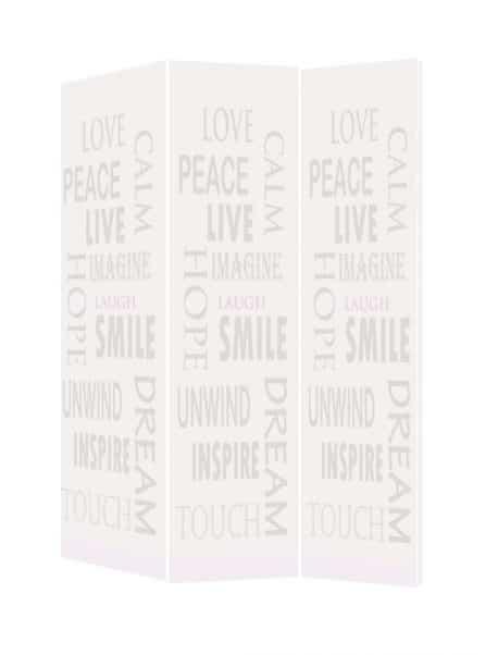 Paravan decorativ imprimat cuvinte motivationale
