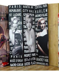 Paravan despartitor cu Marilyn Monroe