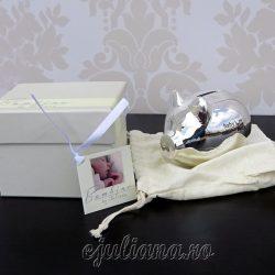 Porcusor pusculita argintata pentru bebelusi