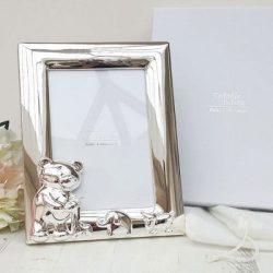 Rama foto placata cu argint pentru bebelusi