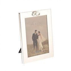 Rama foto inele, rame foto de nunta argintate