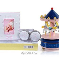 Set cadou rama cu casetute pentru dinte si bucla carusel, cadou pentru fetita