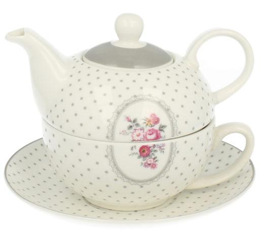 ceainic de portelan fin ceasca farfurioara