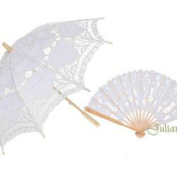 Evantai si umbrela de dantela alba, Idei de cadouri pentru miri