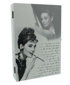 Cabinet cutie de chei decorata cu Audrey Hepburn