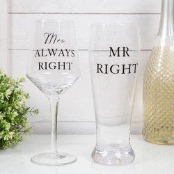 Pahare bere vin pentru cuplu aniversare