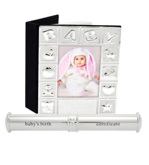 Album foto argintat suport certificat Bambino
