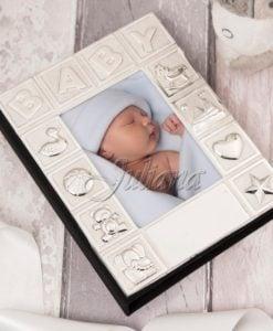 Album argintat pentru bebelusi Baby colectia Juliana