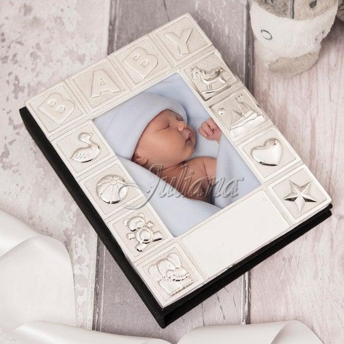 Album argintat pentru bebelusi Baby colectia Juliana, Cadou primul anisor