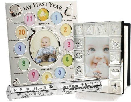 Album foto Baby rama primul an si suport pentru certificat de nastere Juliana