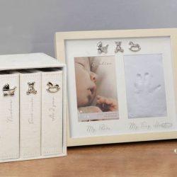 Set albume si rama foto pentru amprenta bebelusului