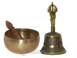 Bol cantator tibetan batut si clopotel tibetan antichizat