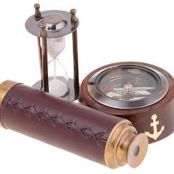Busola clepsidra ochian cutie de lemn