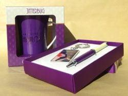 Cadou pentru ea set breloc pix cana in cutie eleganta Jitterbug by Juliana