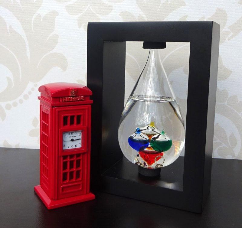 cadouri de birou ejuliana, cadou pentru barbati termometru Galileo Galilei ceas de birou