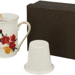 Cana de ceai cu infuzor cutie eleganta