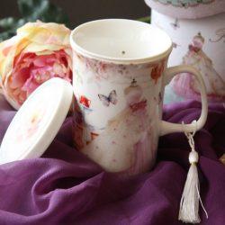Cana de ceai cu infuzor pentru femei