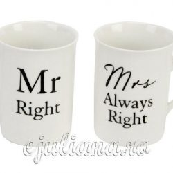 Cani pentru cuplu Mr.Right Mrs.Always Right