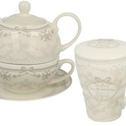 Set ceainic cana cu infuzor parizian