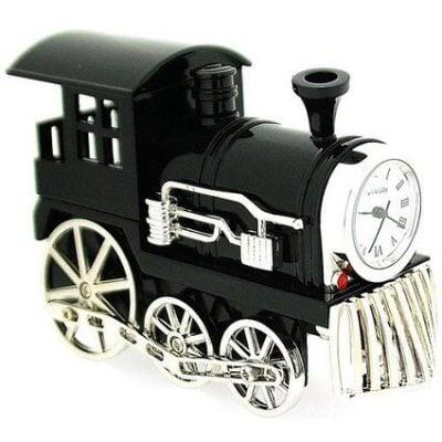 Ceas de birou locomotiva cu aburi